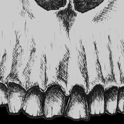 T-Shirt Design (skull with skyline horns)
